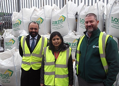 L-R: Shanker Patel (Lords Group CEO), Dr Rupa Huq MP (Labour, Ealing Central & Acton) and John Murphy (Lords Branch Manager)