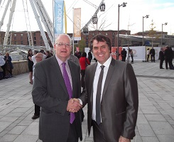 Steve Rotheram, Labour Mayoral Candidate in Liverpool with BMF's Brett Amphlett