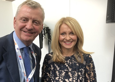 John Newcomb and Esther McVey MP