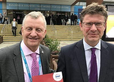 John Newcomb (BMF) and Greg Clark MP