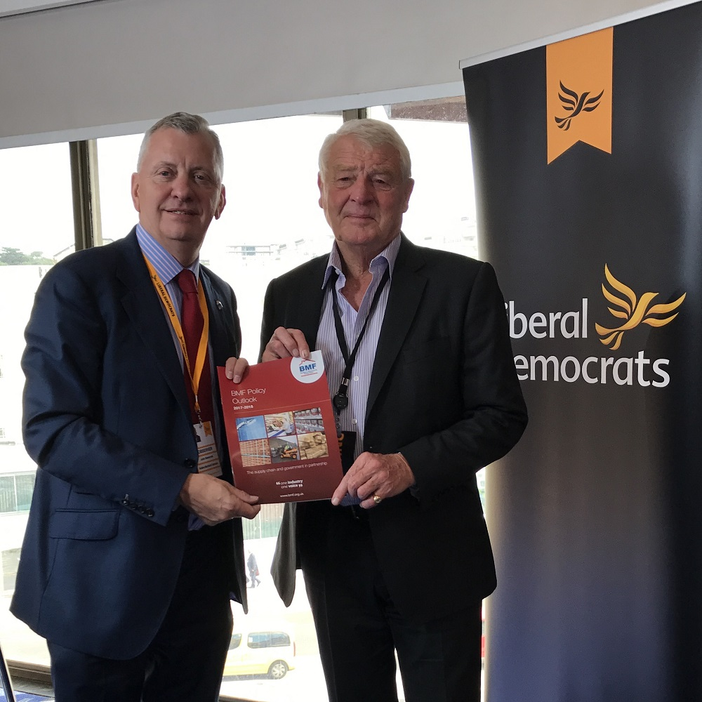 John Newcomb (BMF CEO) and Lord Paddy Ashdown (former Lib Dem leader)