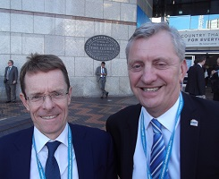 L-R: Andy Street, Conservative Mayoral Candidate in Birmingham with BMF MD John Newcomb